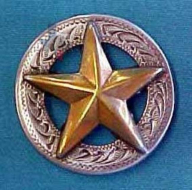 """Star Concho Engrave Border 1/2"""""""