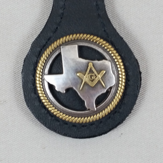 Texas Masonic Key Fob Black