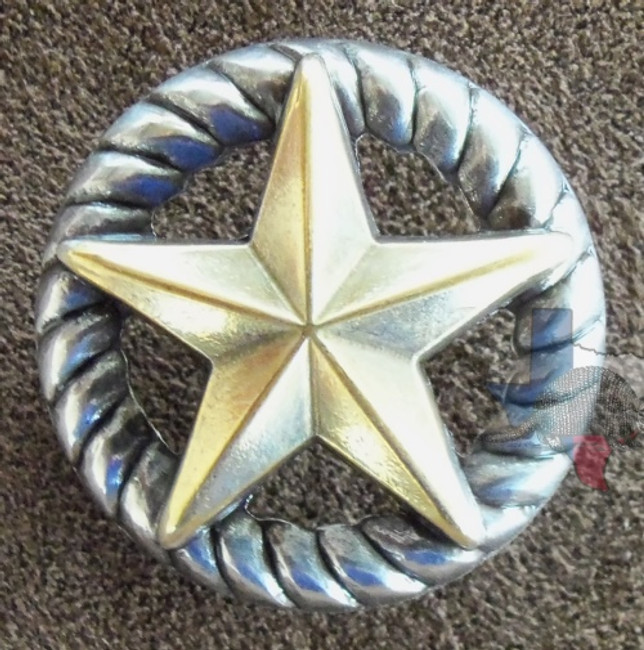 Star on Rope Trim Concho