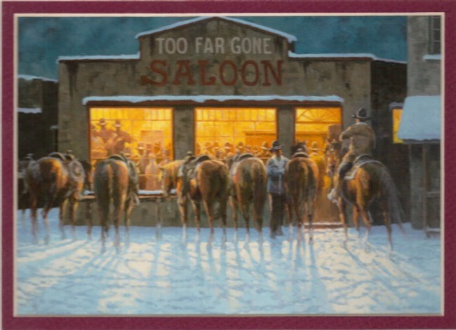ART-JR-00001  Western Saloon by Night Print