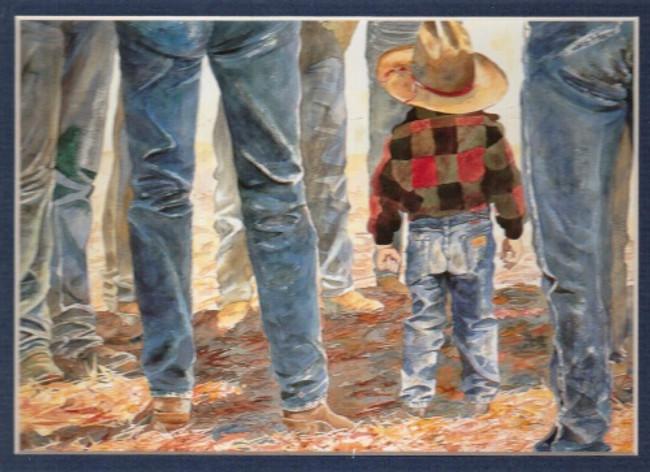 ART-LL-00002  Western Little Cowboy Children Print