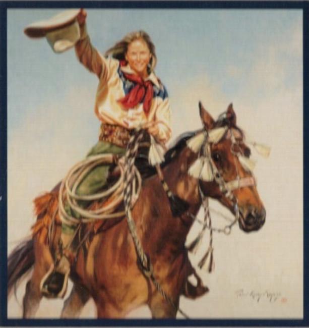 ART-TKM-00001  Western Cowgirl Print