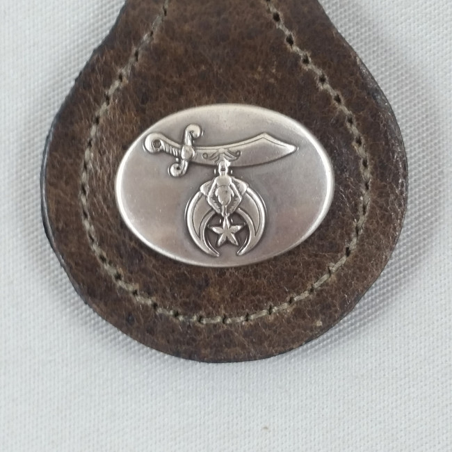 Shriner Key Fob Brown