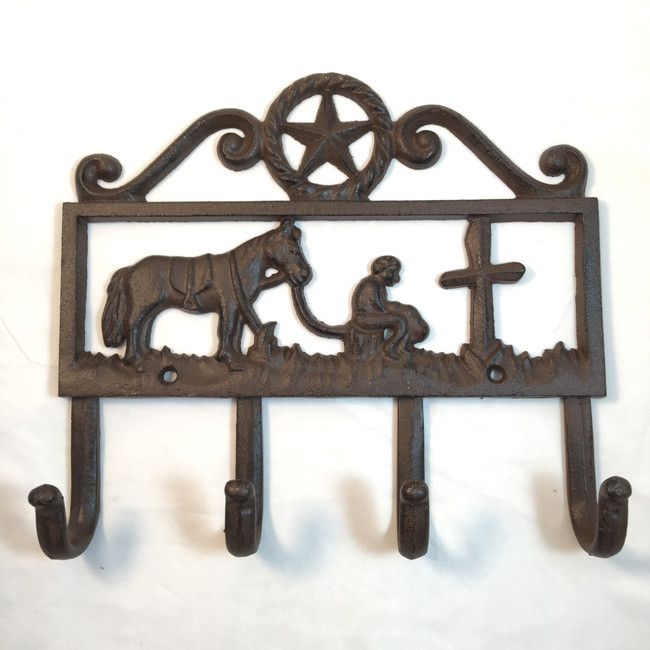Rustic Cowboy Church Coat Hook