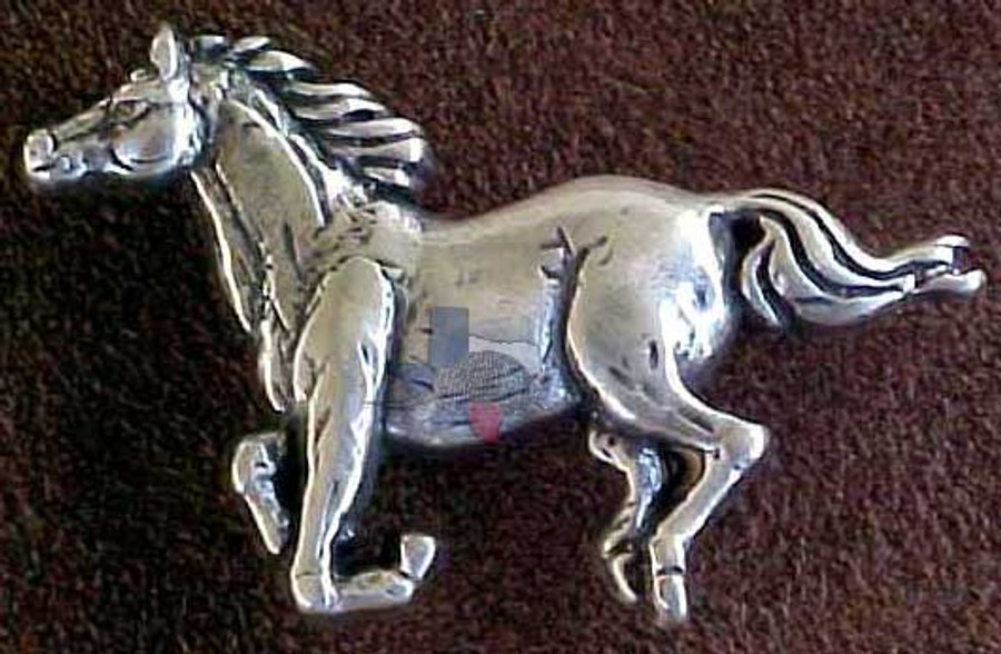 Western Horse Concho Silver Plated