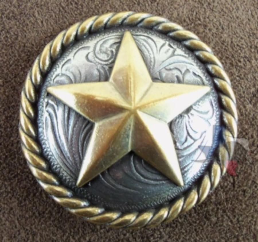 Texas Star & Rope Conchos