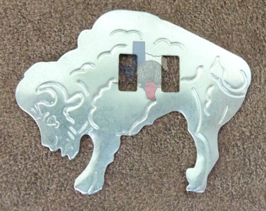 Buffalo Slotted Bison Conchos