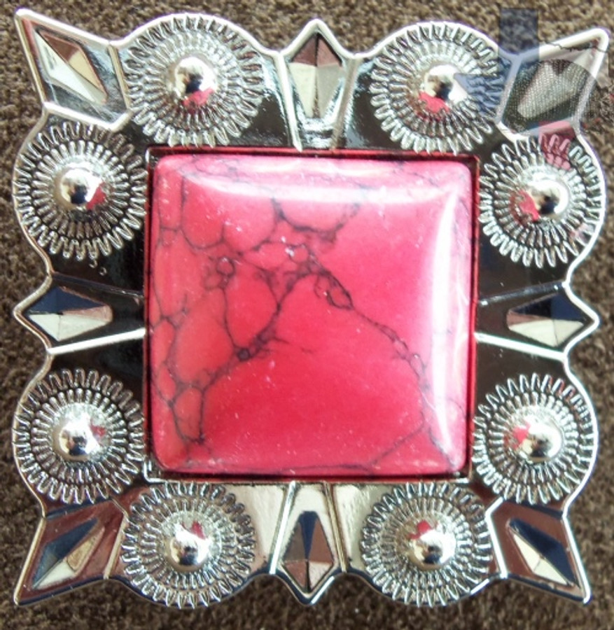 Bling Conchos Red Coral