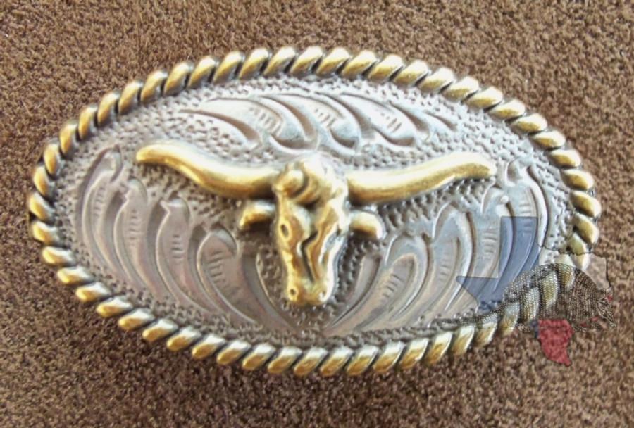 Oval Texas Longhorn Concho