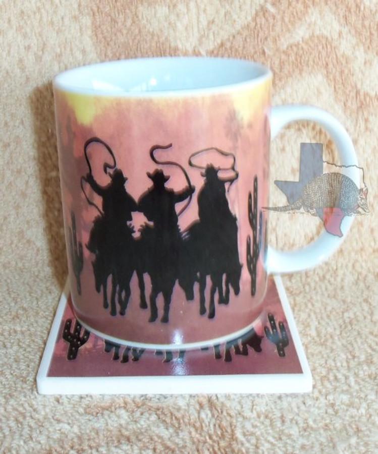 Western Decor Deluxe Mug & Coaster Set