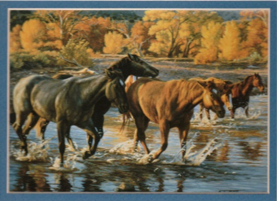 ART-TC-00021  Western Horse of the Creek Print