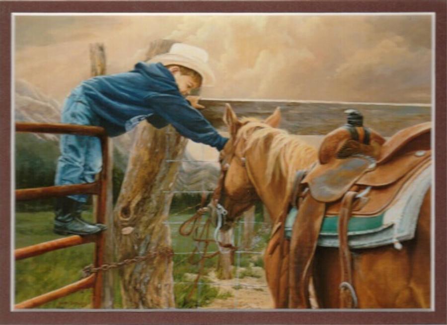 ART-JD-00001  Western Little Cowboy Children Print