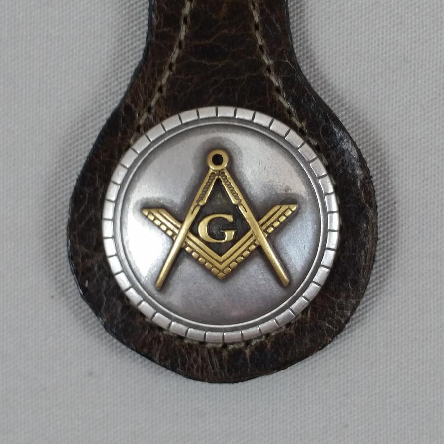 Masonic Key Fob Brown