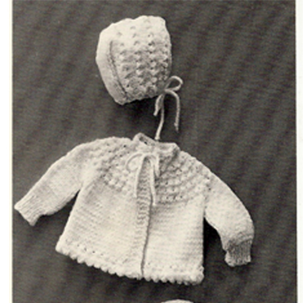 Baby Legging Knitting Pattern With Jacket Bonnet