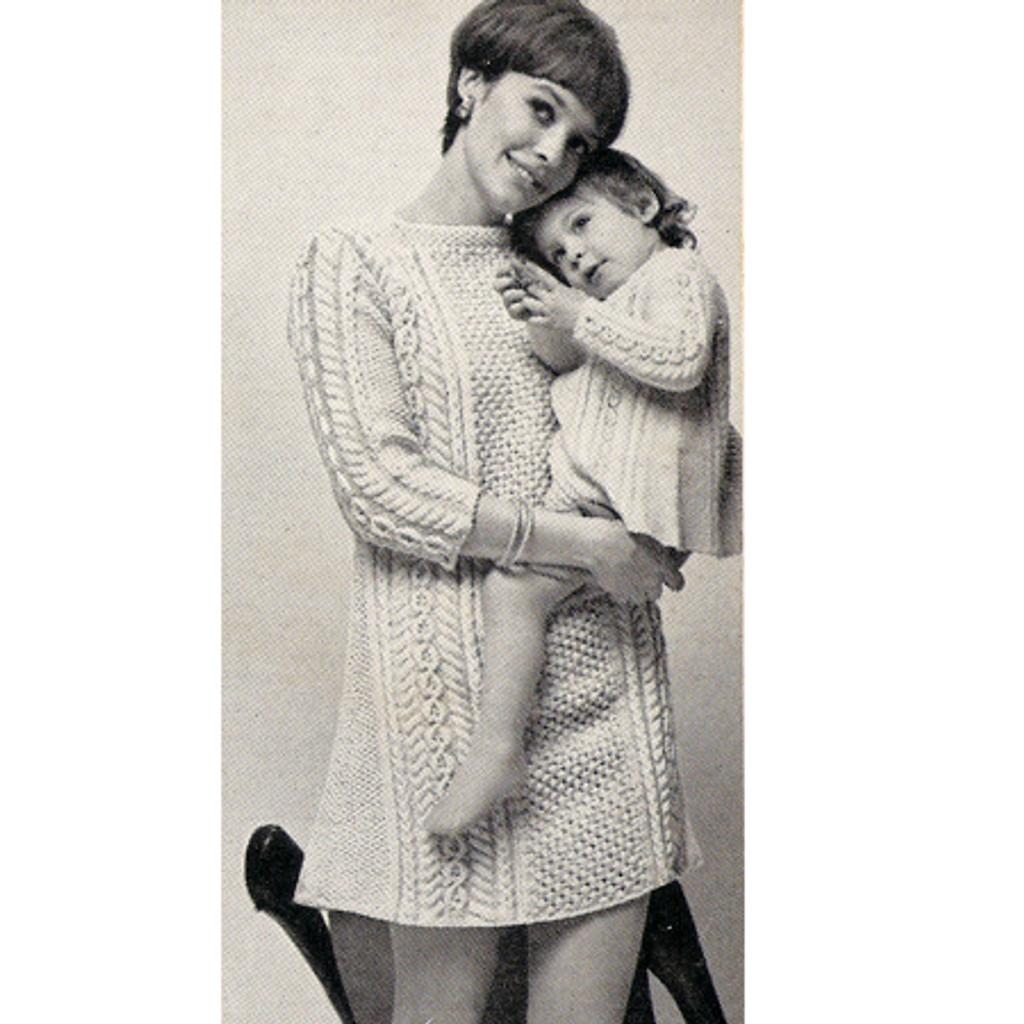 Baby Aran Knit Dress Pattern