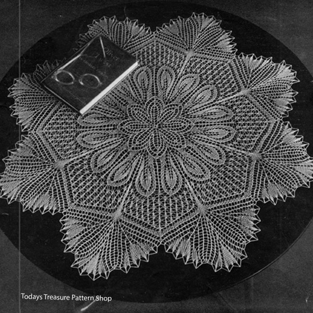 Knitted Viennese Lace, Cloth Marion, ANP-9