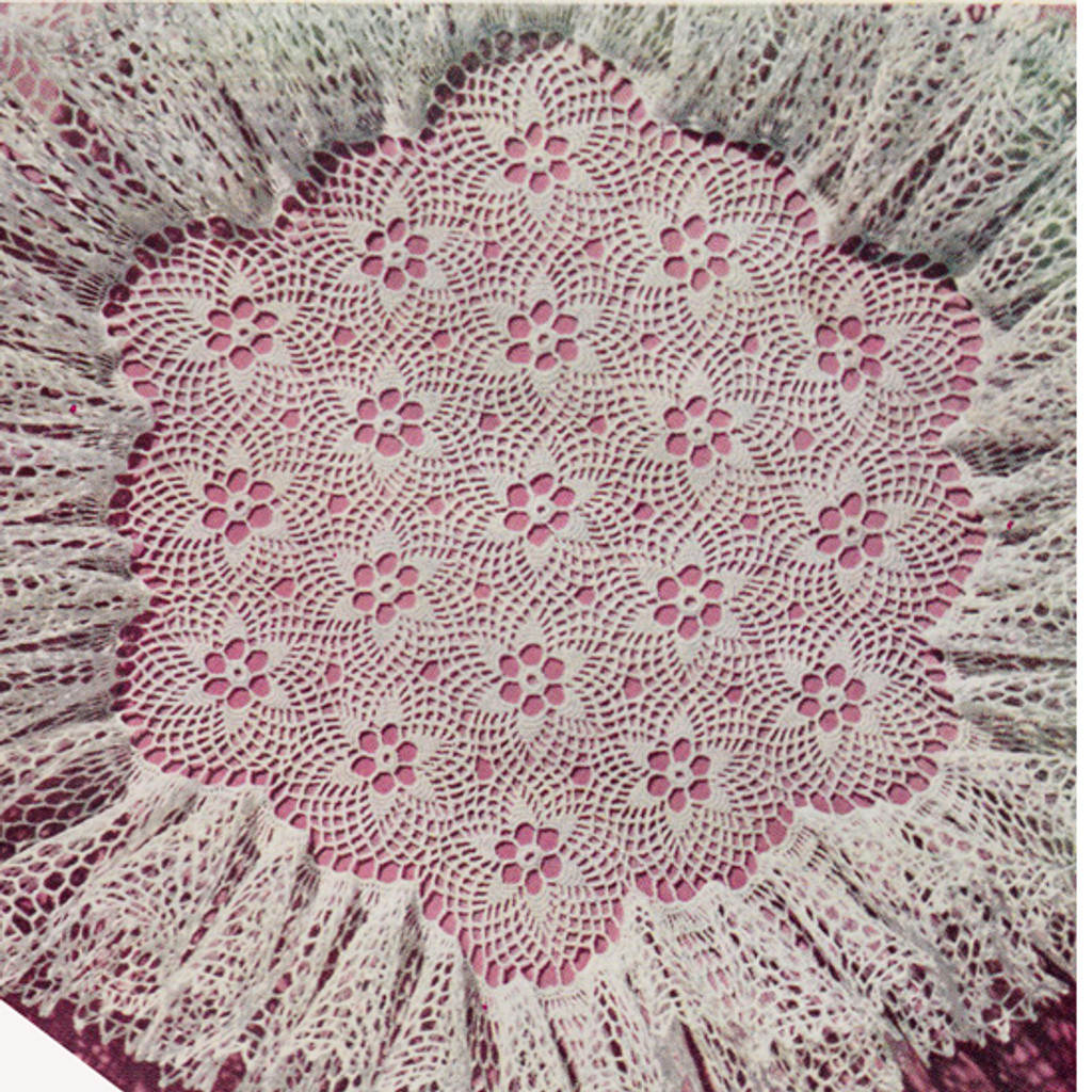 Vintage Ruffled Flower Doily Crochet Pattern
