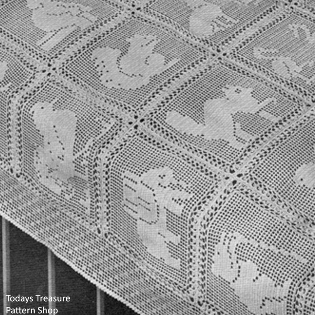 Filet Crocheted Baby Blanket Pattern
