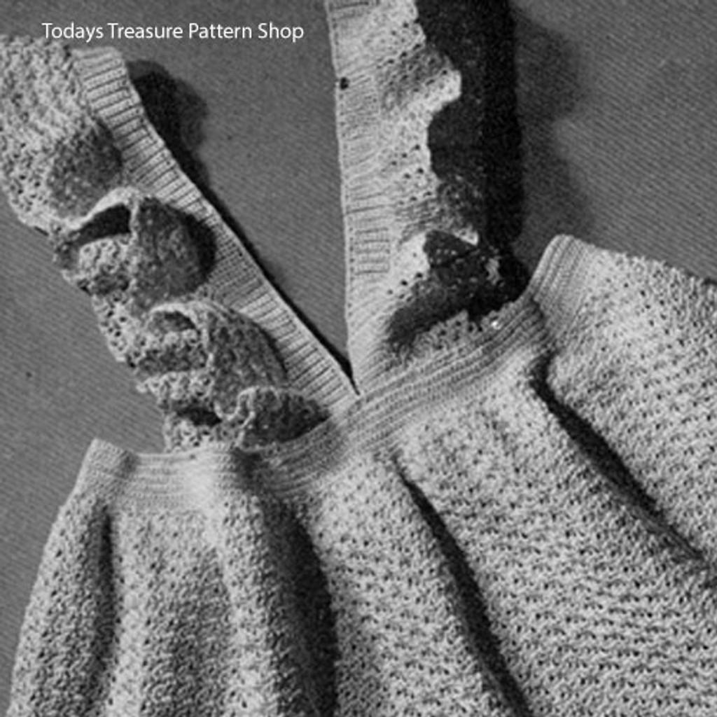 Vintage Crochet Toddler Pinafore Dress Pattern