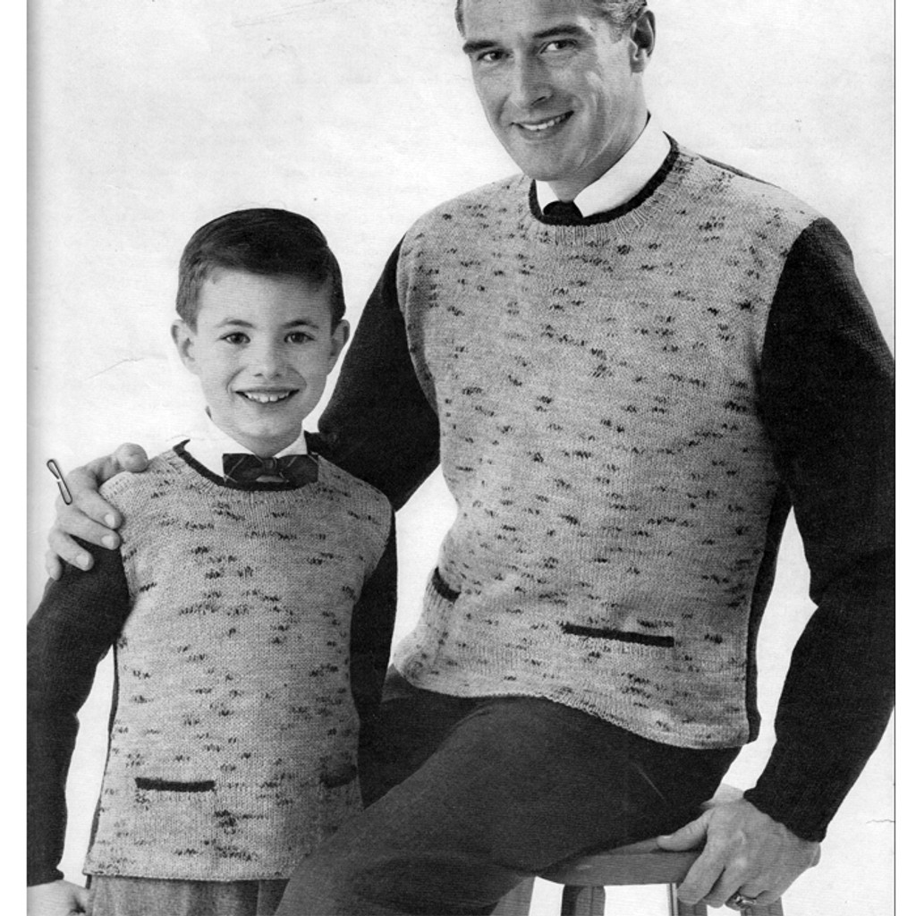 Boys Tweed Shirt Knitting Pattern