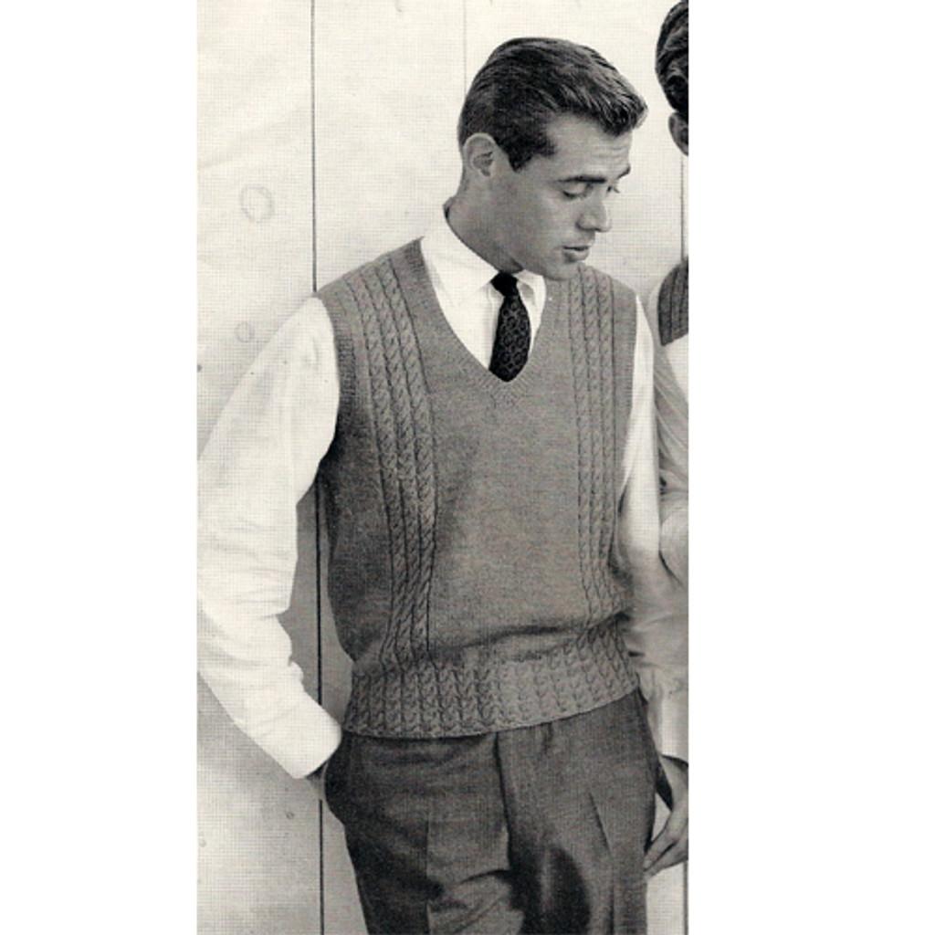Mens Sweater Vest Knitting Pattern