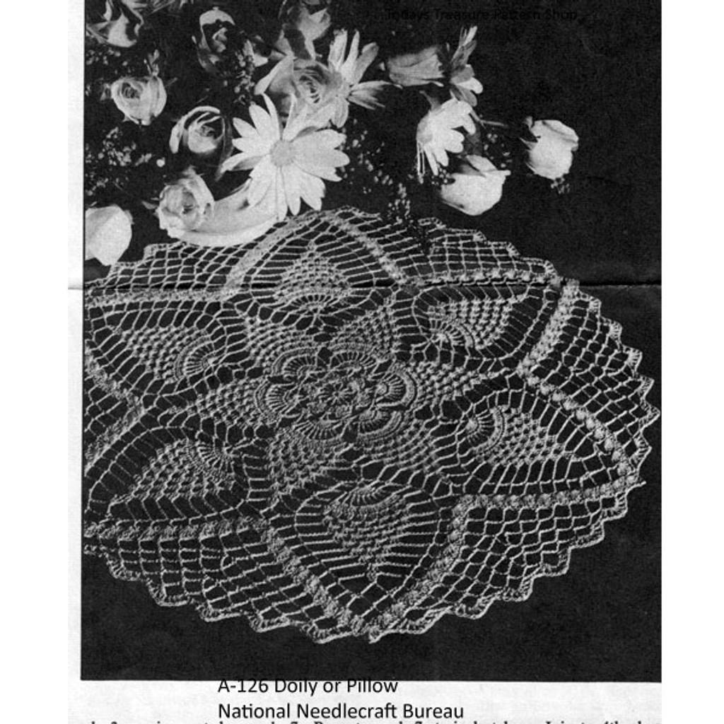 Pineapple Doily Crochet Pattern from National Needlecraft
