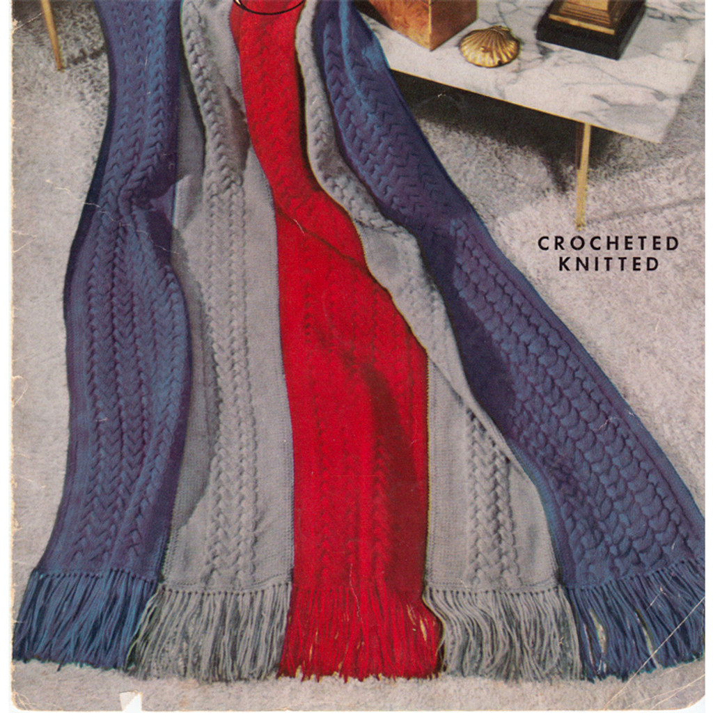 Easy Cable Afghan Knitting Pattern Is 52 X 70 Inches