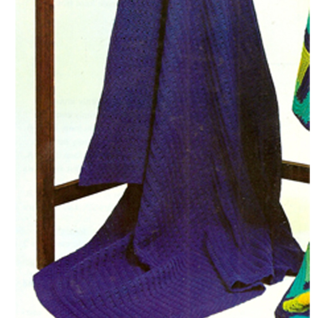 Easy Afghan Knitting Pattern Solid Color