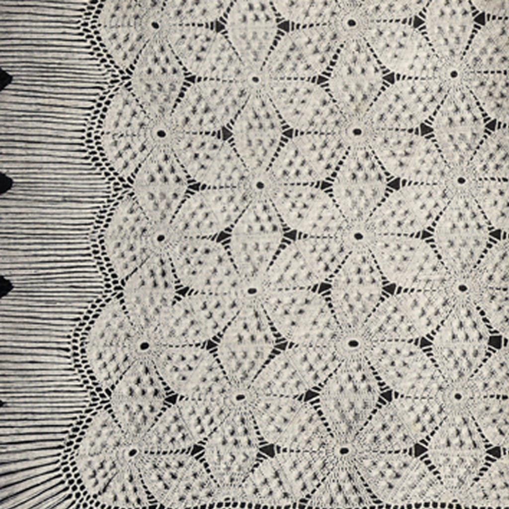 Crocheted Swedish Bedspread Pattern in Flower Motif