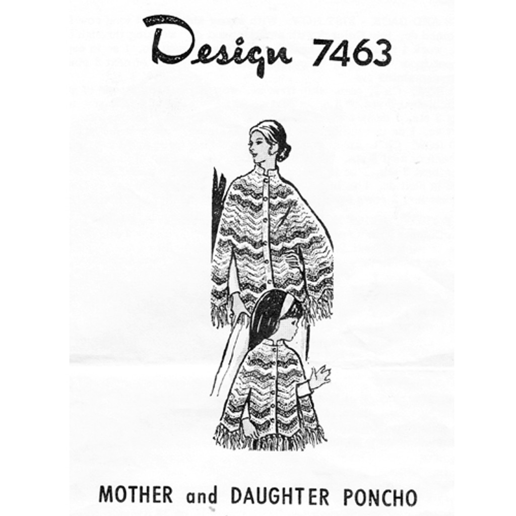 Mother Daughter Crochet Poncho Pattern