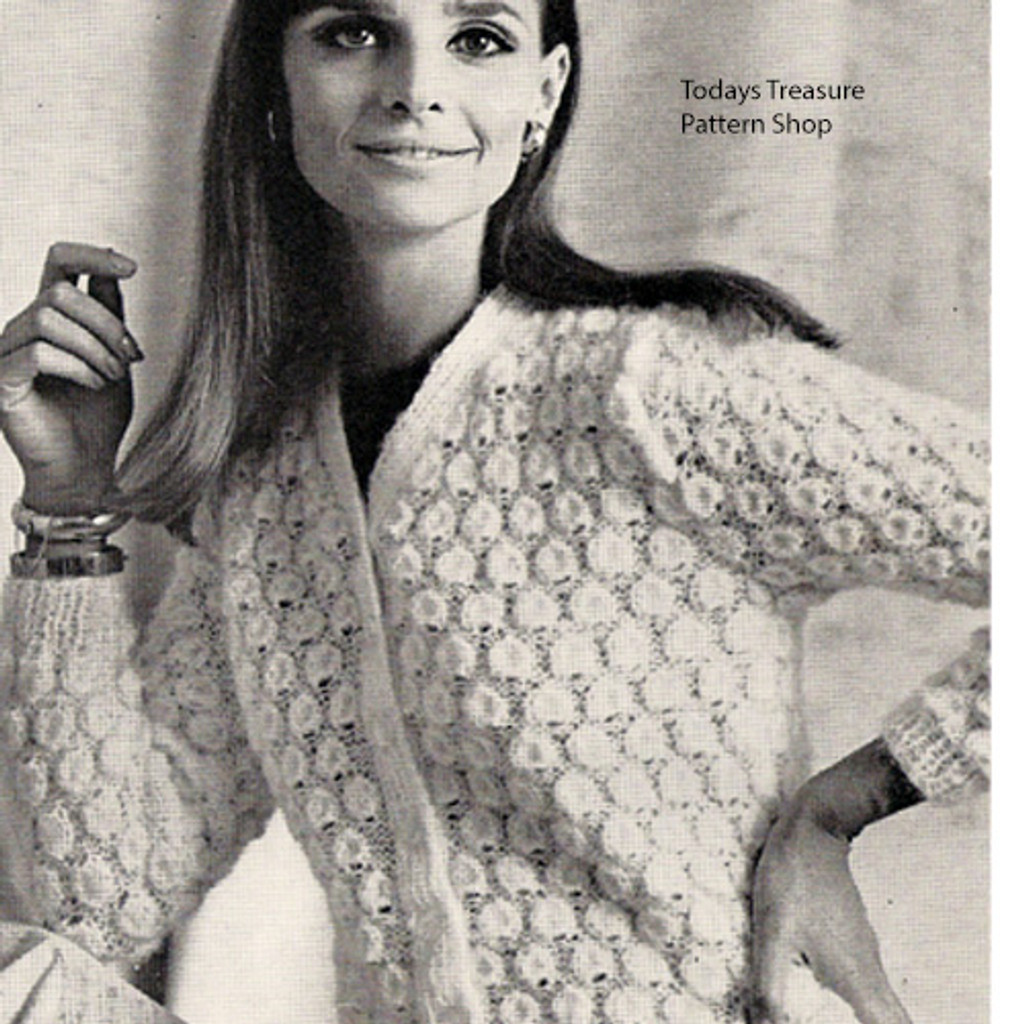 Textured Knitted Bubbles Cardigan Pattern
