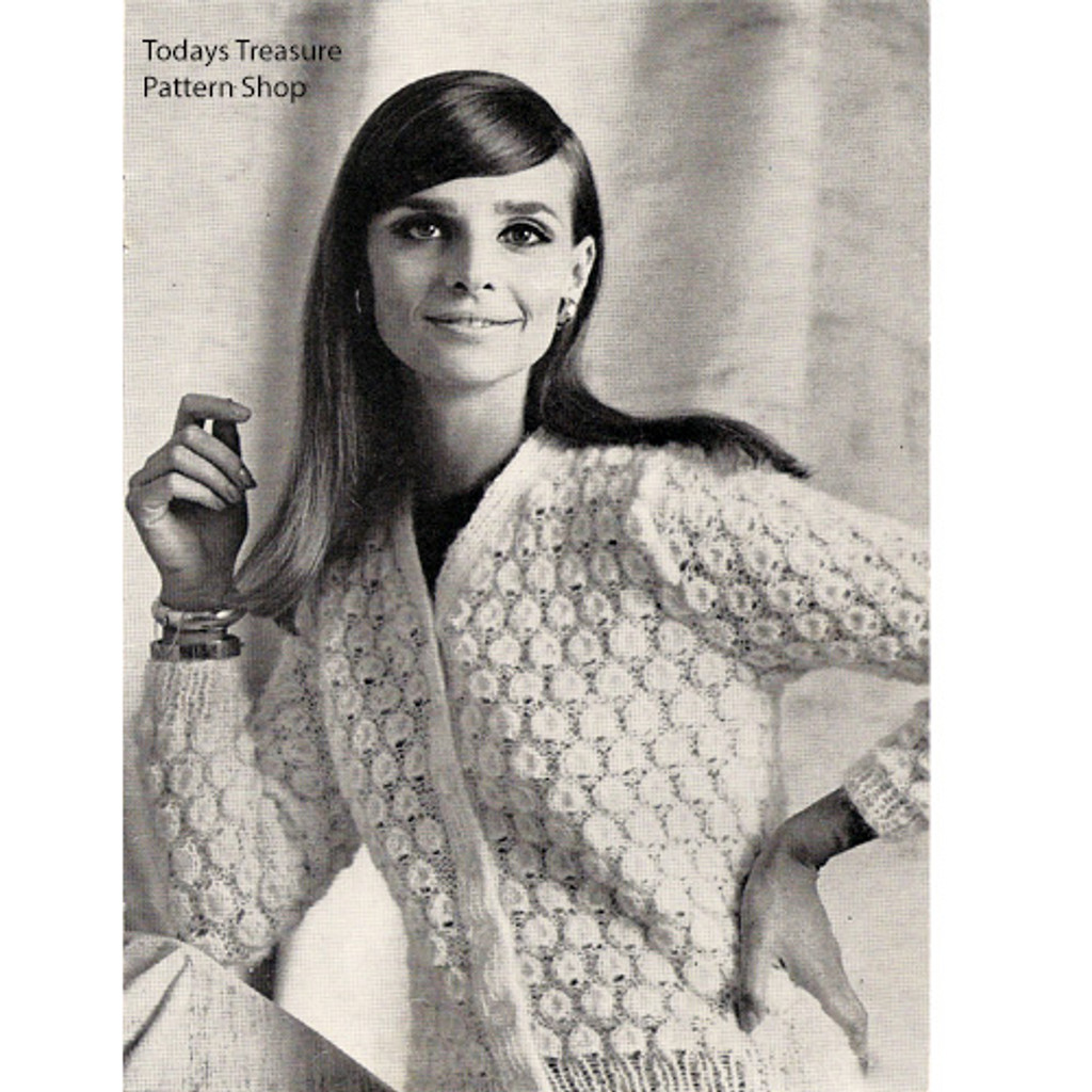 Knitted Bubbles Cardigan Pattern from American Thread