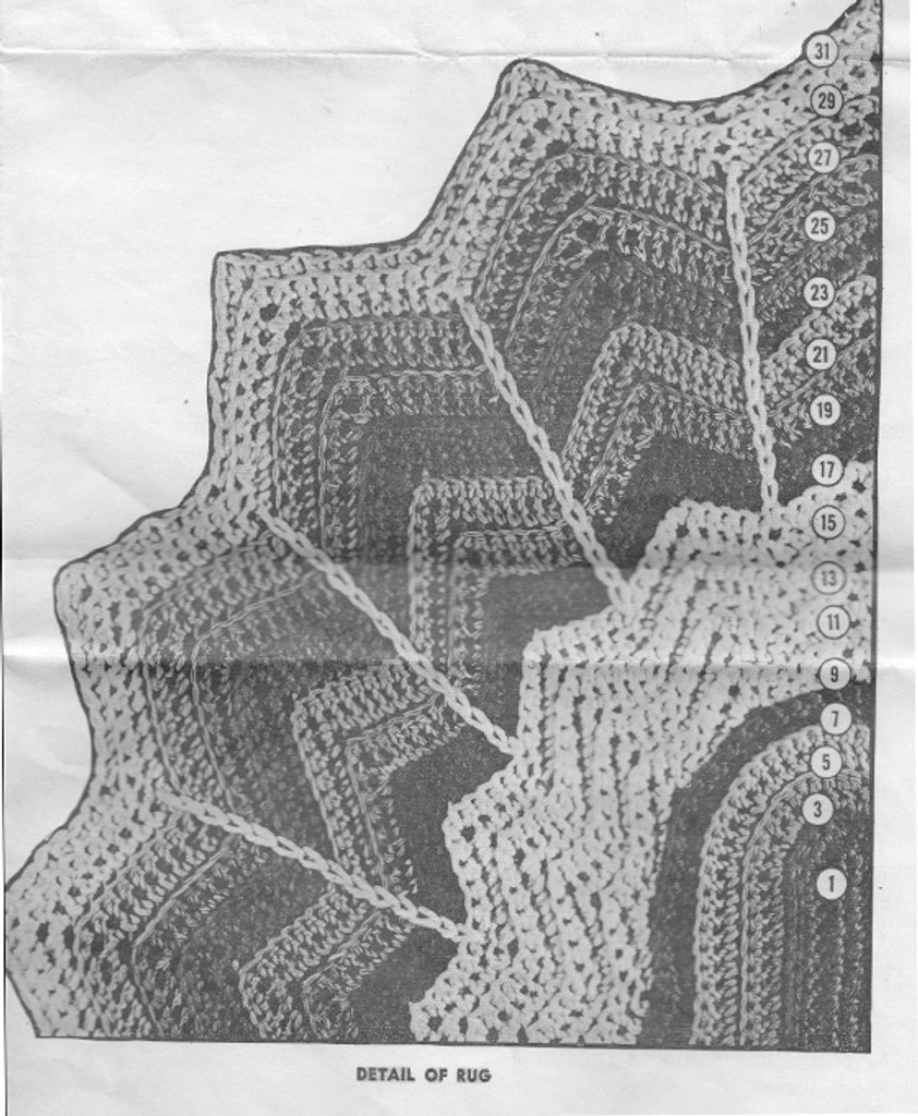 Crocheted Oval Rug Pattern with Scalloped Edges