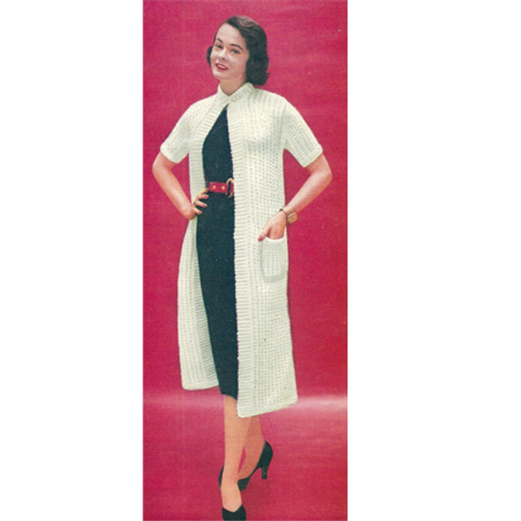 Loose Fitting Knitted Coat Pattern