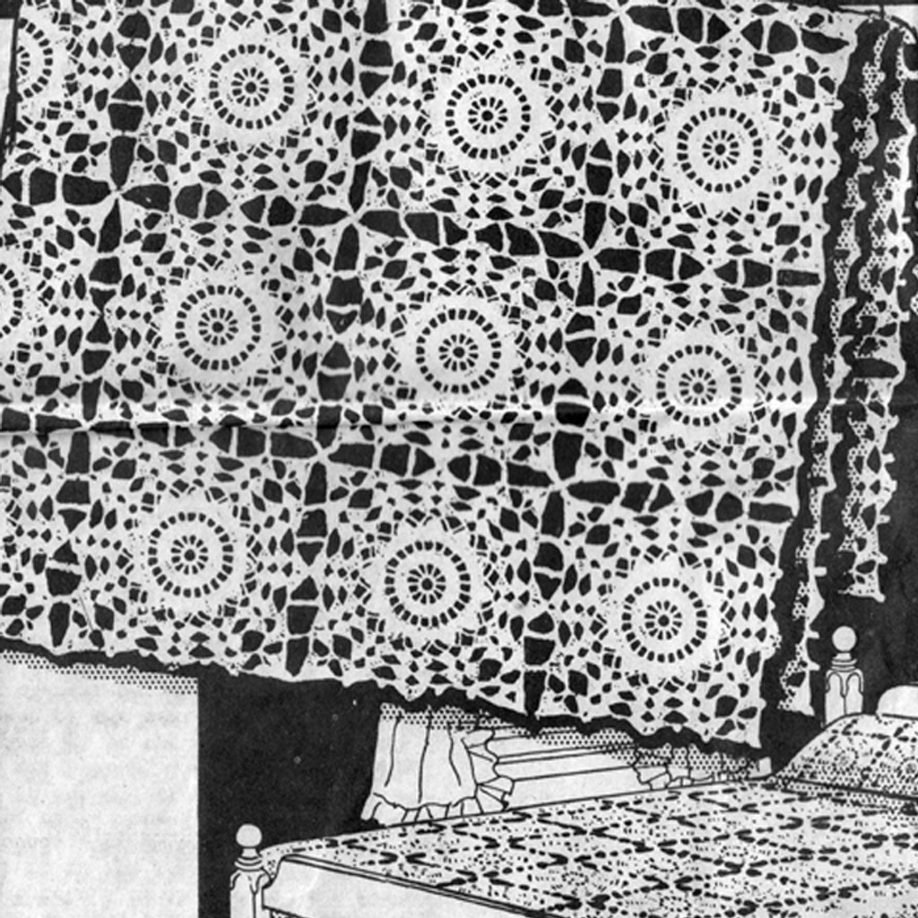 Vintage Flower Medallion Tablecloth Pattern