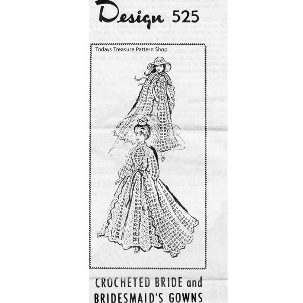 Crochet Fashion Doll Crochet Bride Dress Pattern