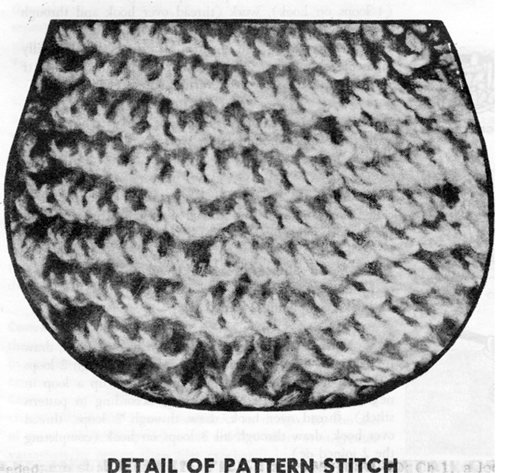 Crochet Cat Pattern Stitch Detail