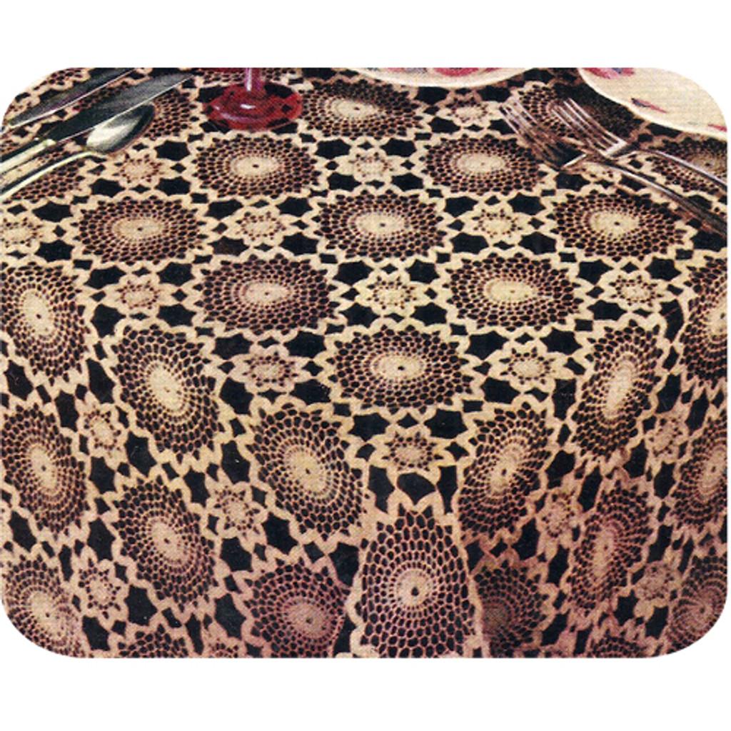 Continental Crochet Medallion Tablecloth Pattern