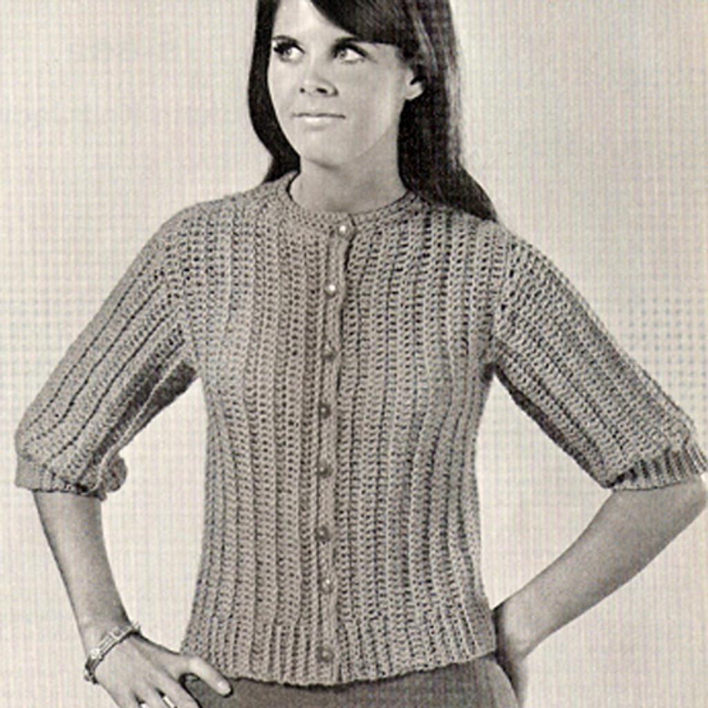 Misses Double Crochet Sweater Cardigan PDF Pattern