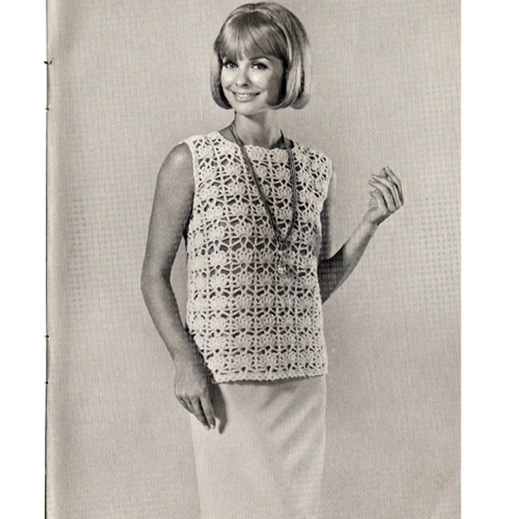 Crochet Sleeveless Top in Shell Stitch