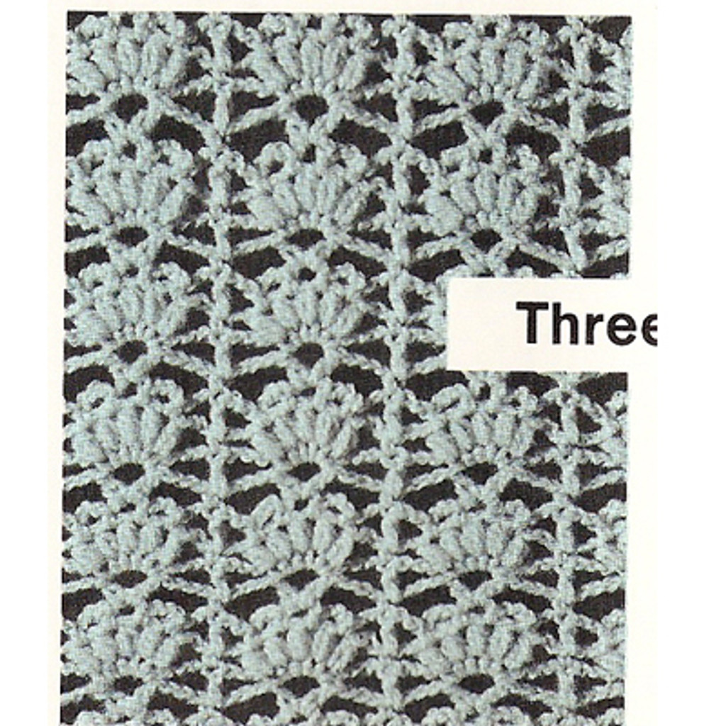 Crochet Shell Stitch Illustration for top