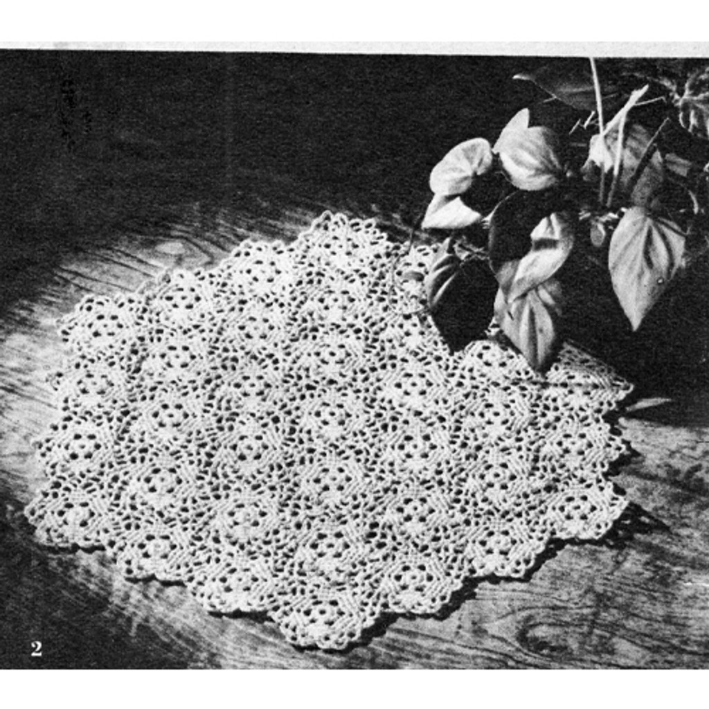 Free Crochet table mats, vintage 1950s