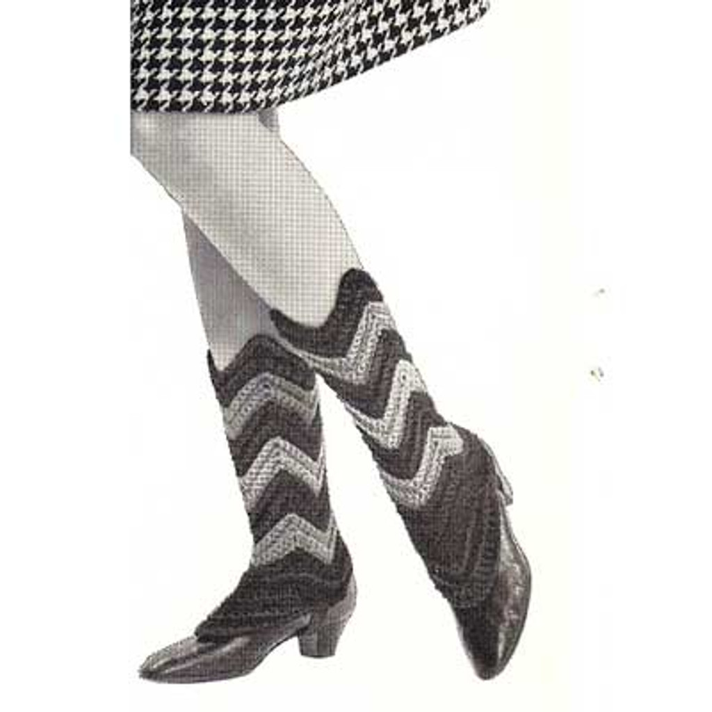 Ripple Spats or Shoe Covers Crochet Pattern