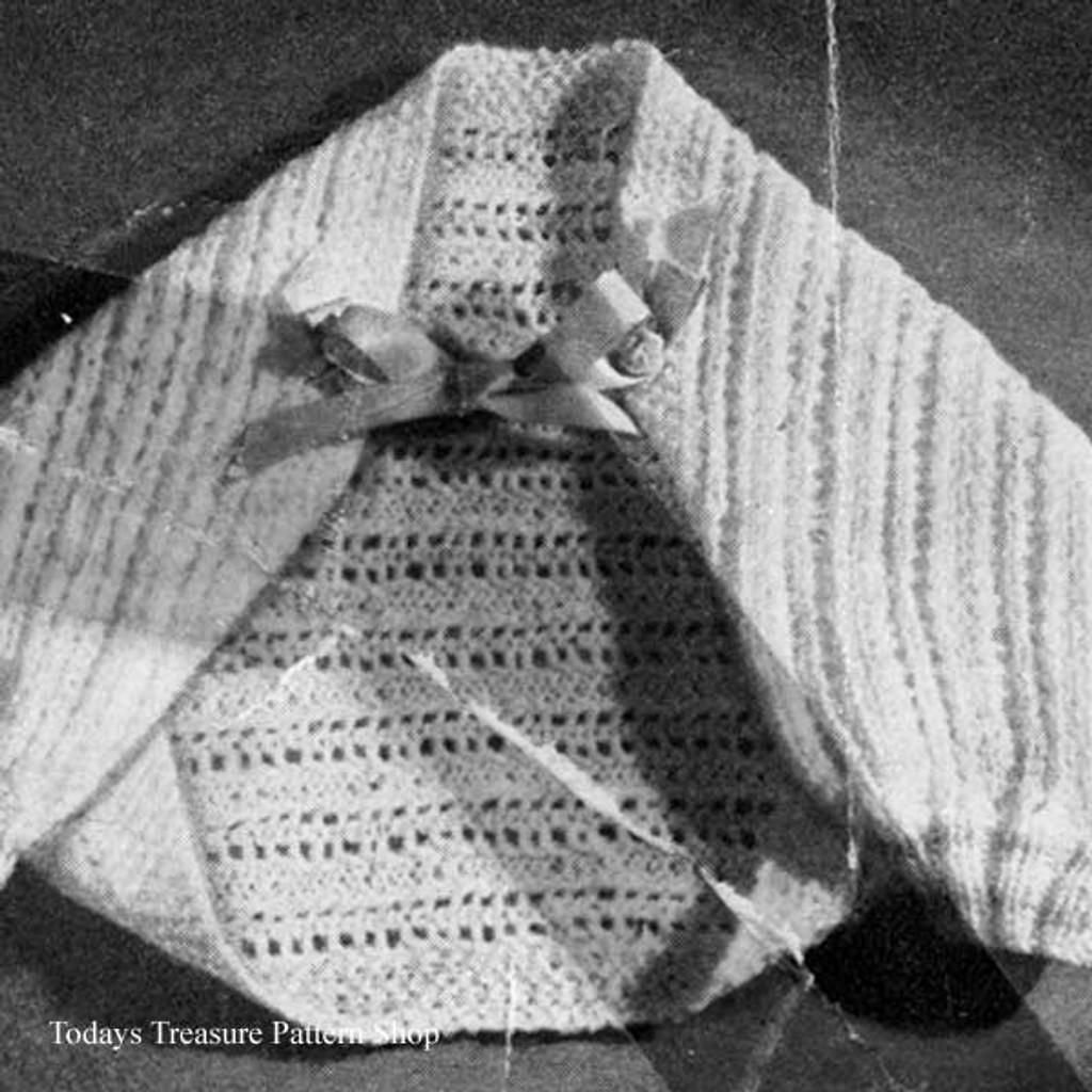 Baby Shoulderette Jacket Free Knitting Pattern