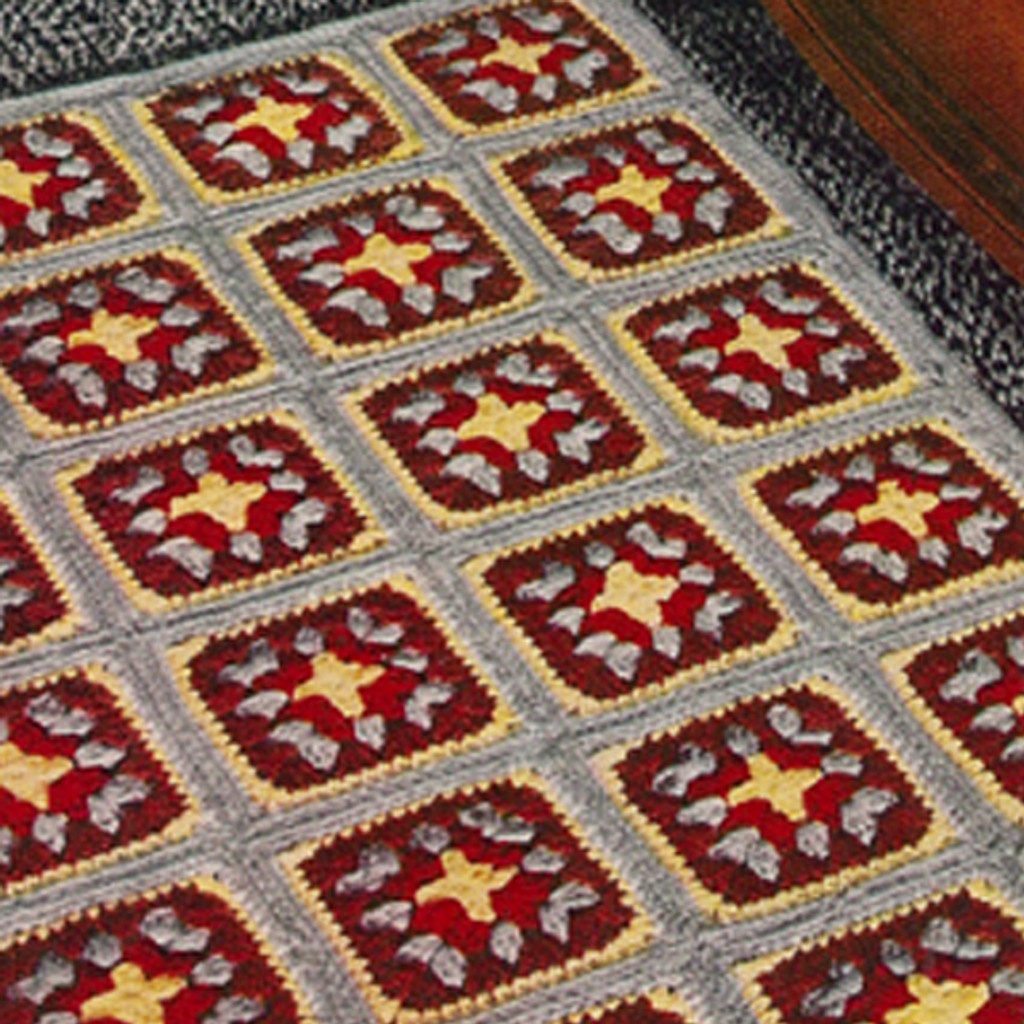 Granny Square Crocheted Rug Pattern