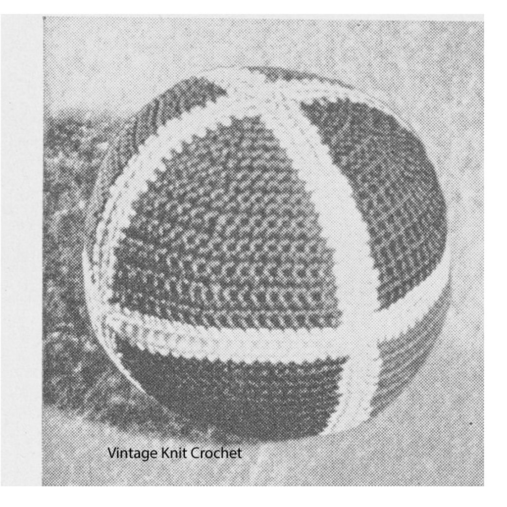Crocheted Ball Pattern in two colors of Pearl Cotton