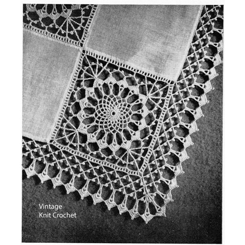 Vintage Crochet Tea Cloth Pattern