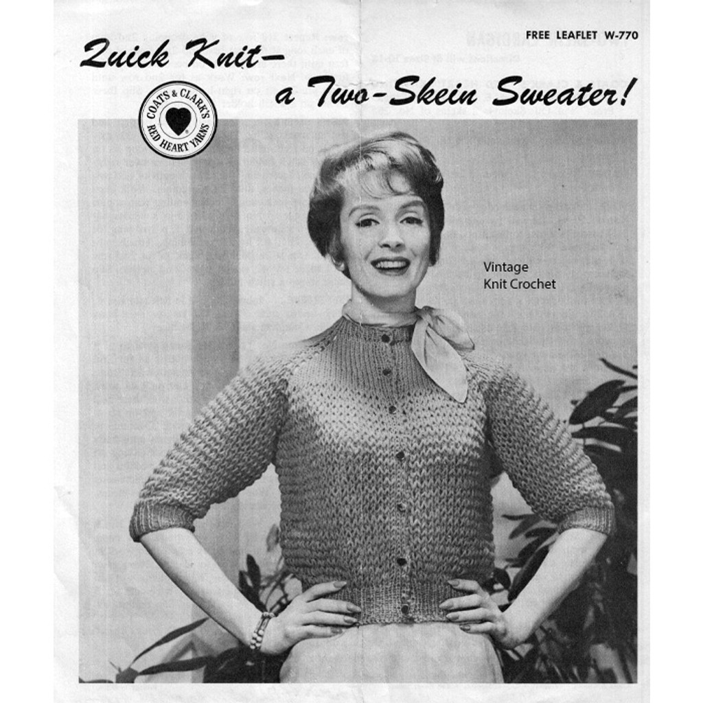 Knitted Two Skein Cardigan Pattern