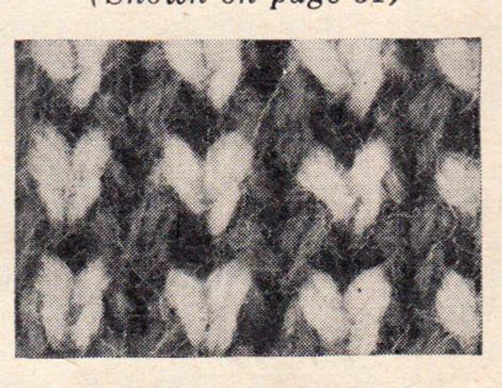 Checked Jacket Knitted Pattern Stitch Illustration