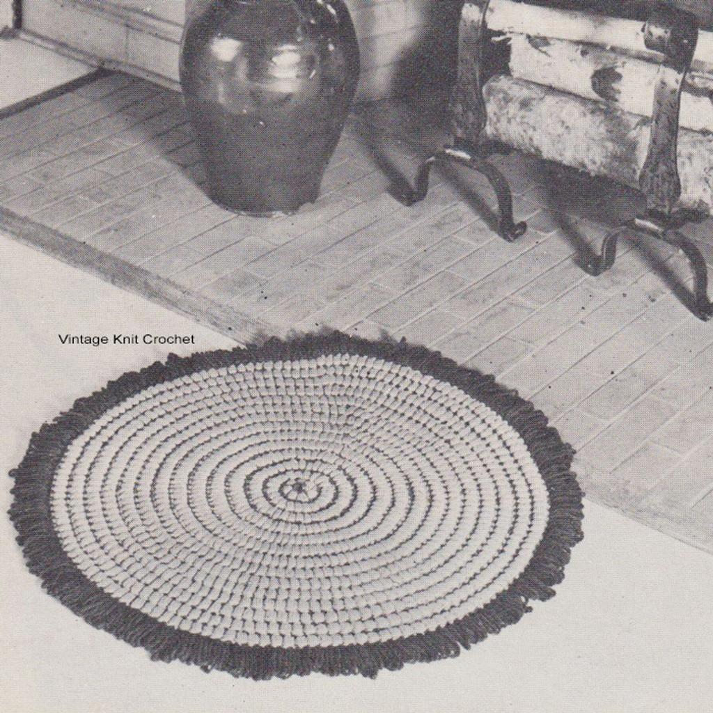 Round Crochet Rug Pattern In Puff Stitch